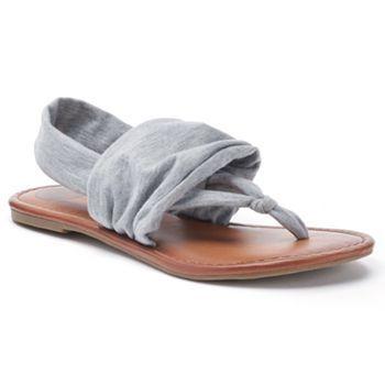 SO® Women's Slingback Wrap Thong Sandals