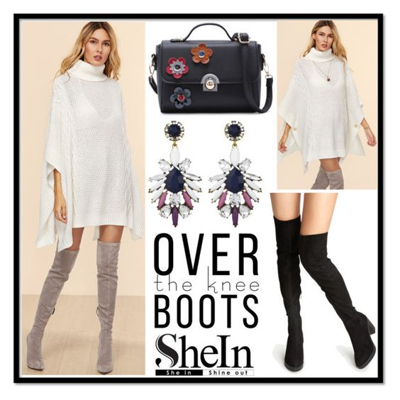 """Shein 10./5"" by b-necka ❤ liked on Polyvore featuring WithChic, Shourouk, Sheinside and shein"