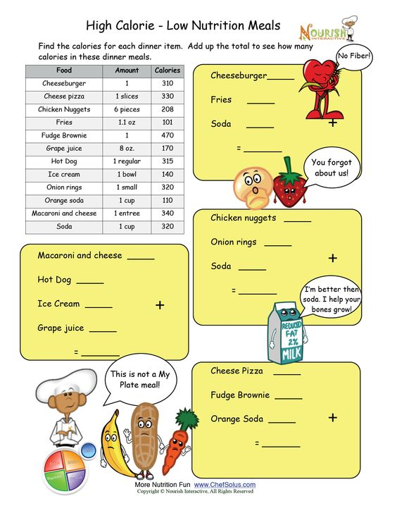 Printables Nutrition Worksheets For High School a well keys and wells on pinterest high calorie low nutrition meal math worksheet please make sure to print the answer