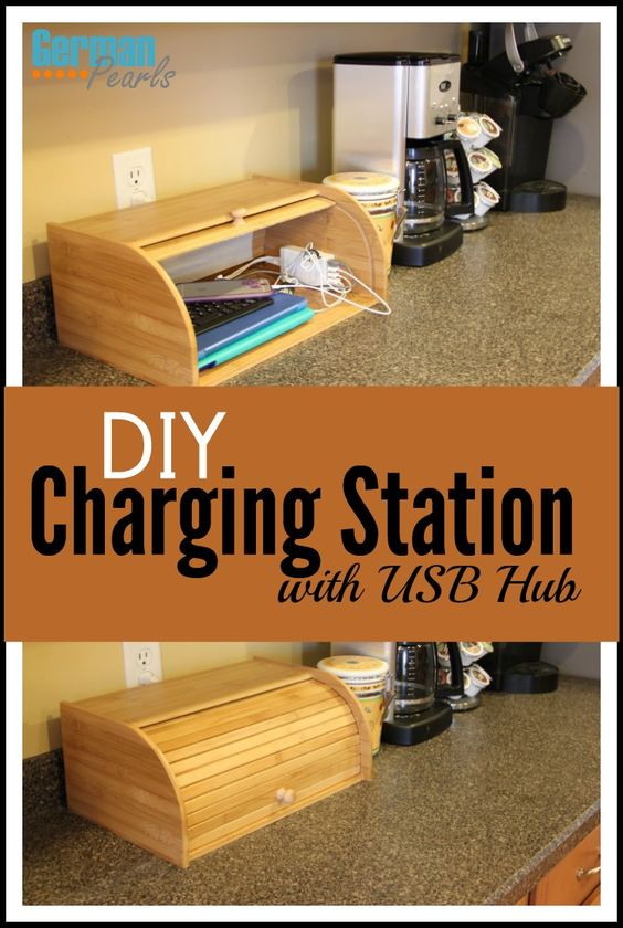 Diy Charging Station Organizer With Usb Hub Charging
