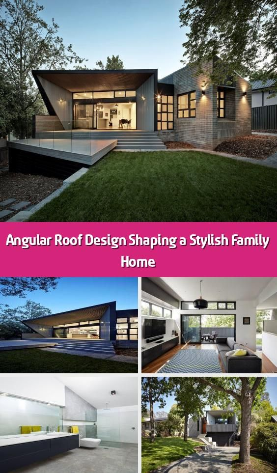 Angular Roof Design Shaping A Stylish Family Home A Beautiful Family Home With Angular Roof Design Rises In In 2020 Roof Design Home And Family Architecture House