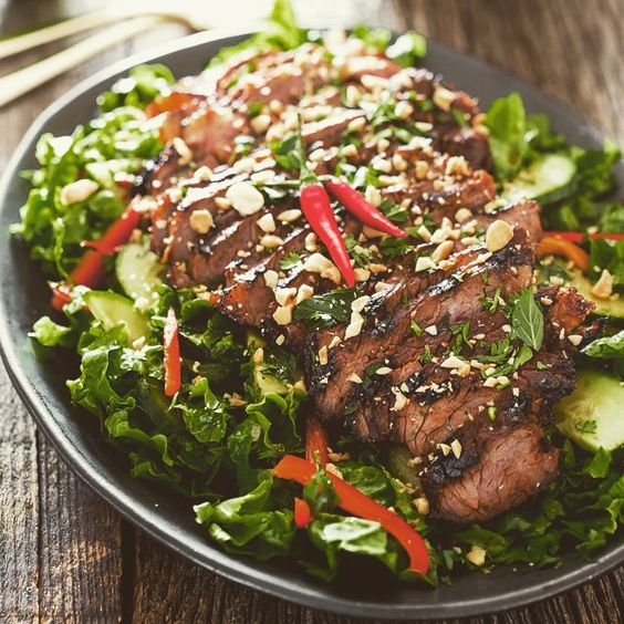 Easy Thai Steak Salad #Thai #steak #foodporn
