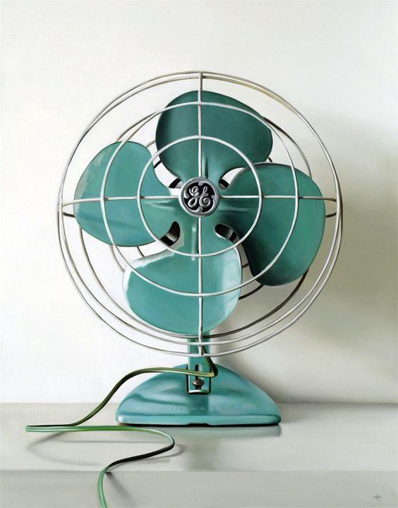 """GE Vintage Electric Fan"" oil/canvas by christopher stott. #splendidsummer"