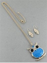 Amazon.com: Designer Inspired Blue Owl Necklace | - Long & Layered | - Metal Works | Inspirational | Inspirational///owl | 32-35 Inch | Gold...