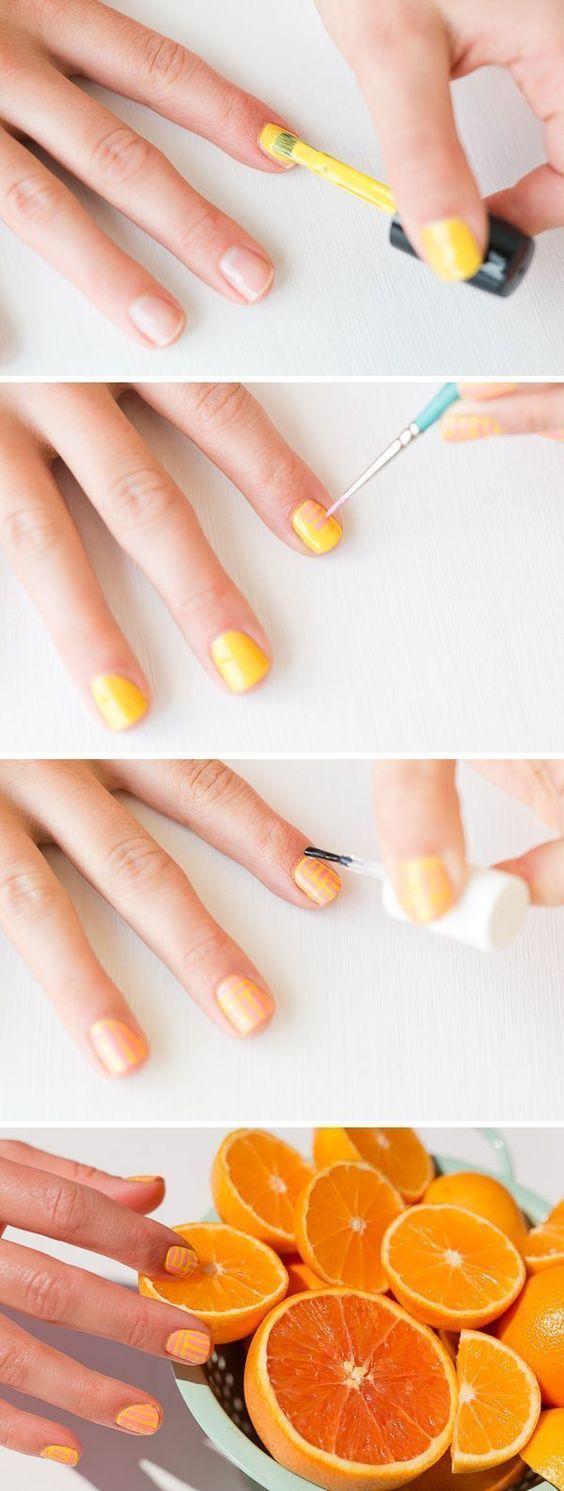 Learn how to do this fun Spring/Summer Nail Design! #nails #nailart #summer #spring #nailtutorial