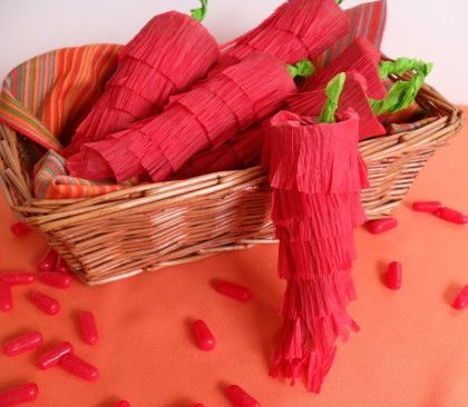 chili pepper party crackers filled with hot tamale candies for Cinco De Mayo or a Mexican Fiesta?