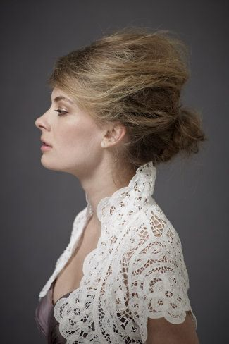 Reverse Shell Bolero $180 #BHLDN #lace #bolero #cover #wedding #event