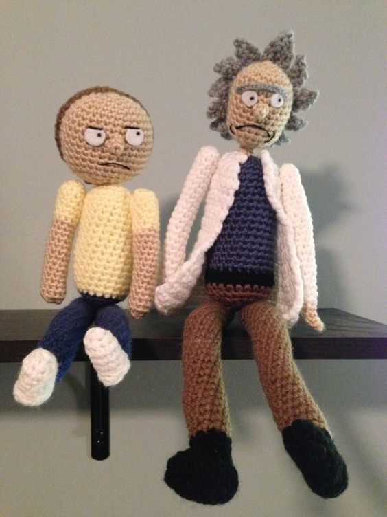 Amigurumi Rick And Morty : Rick and Morty amigurumi Snow Snuggle crochet and clay ...