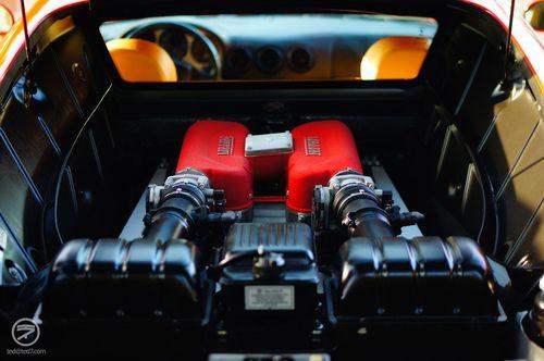 Under the hood of a Ferrari Modena