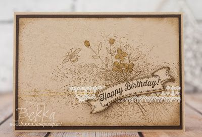 Stampin' Up! Touches of Texture Birthday Card | Feeling Crafty | Bloglovin'