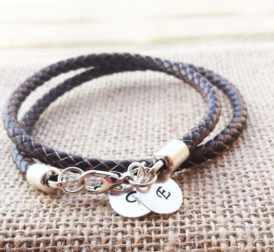 Check out this item in my Etsy shop https://www.etsy.com/uk/listing/255791453/personalized-bracelet-initial-disc