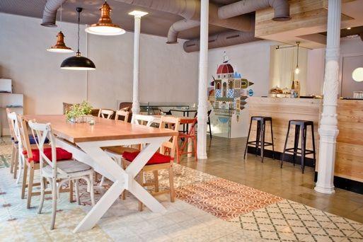 Baldosas hidráulicas en restaurantes&boutiques: