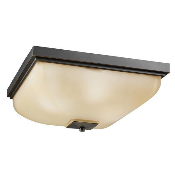 Kichler Lighting Contemporary 4-light Olde Bronze Flush Mount