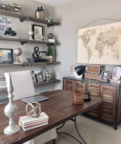 Como Decorar O Home Office 47 Ideias Lindas Diy Facil Decoracao Da Casa Barata Ideias Para Interiores E Escritorio De Design