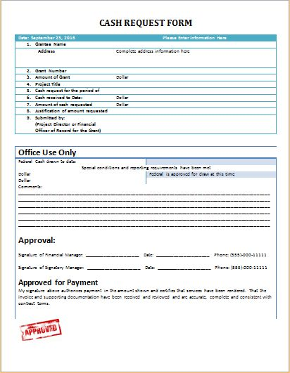 Cash request form at worddoxorg Microsoft Templates Pinterest - authorization request form