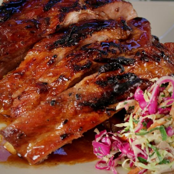 Apple Cider Marinated Pork Spare Ribs