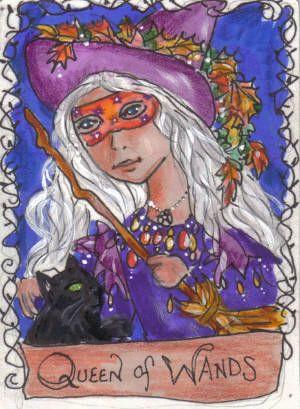 Queen of Wands, All Hallows Tarot