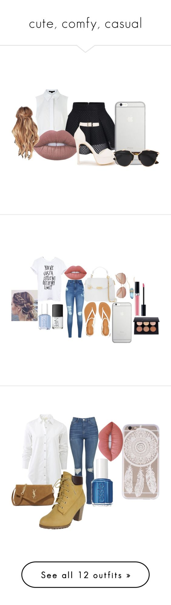 """""""cute, comfy, casual"""" by abrarwoods on Polyvore featuring Alexander Wang, Lime Crime, Nly Shoes, Native Union, Christian Dior, NightOut, girly, Lipsy, Aéropostale and H&M"""