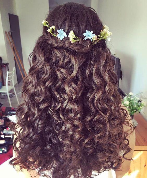 penteados semi preso madrinha