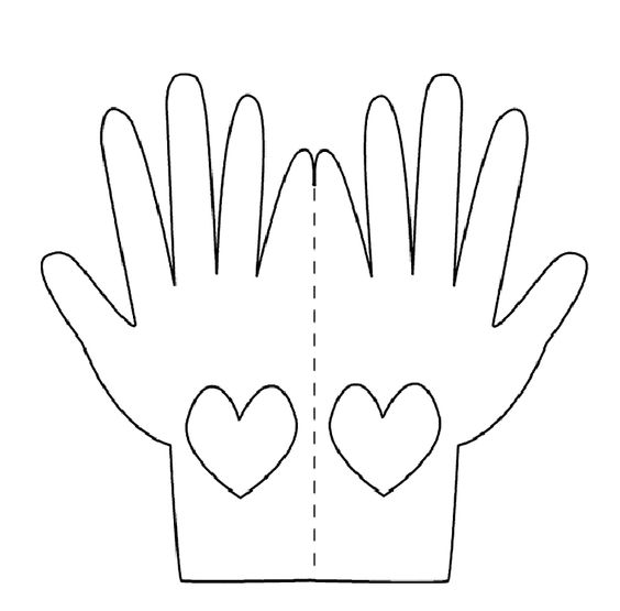 Praying Hands Printable Template