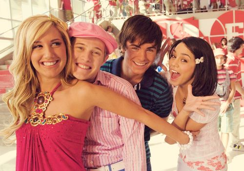high school musical! zac efron vanessa hudgens ashley tisdale