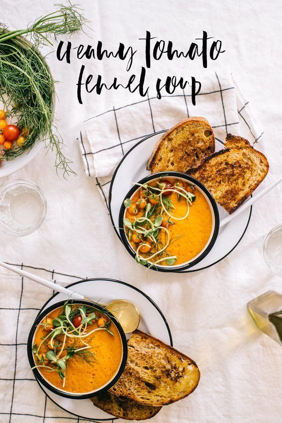 Creamy Tomato and Fennel Soup