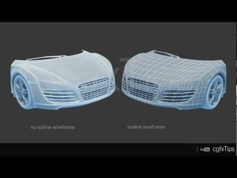 3ds max Tutorial: Isoline Wireframe Render (V-Ray) - YouTube