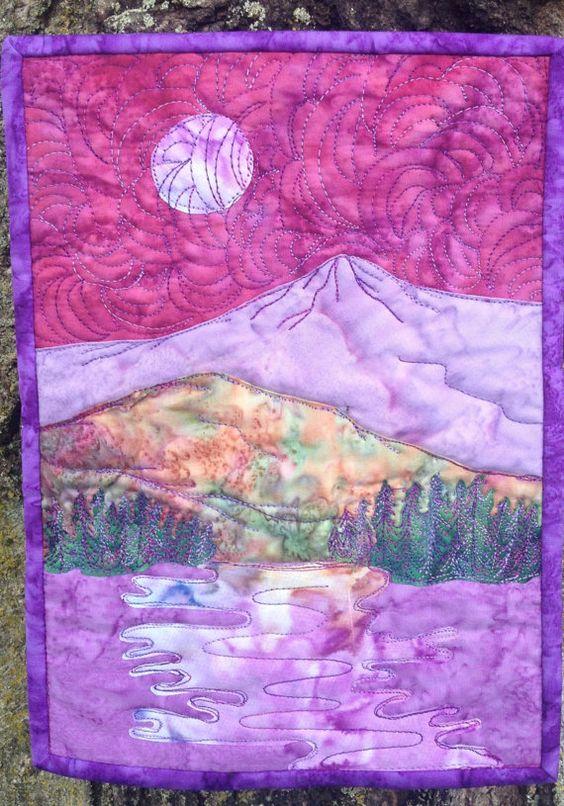 Stitching, Quilt and Landscape art on Pinterest
