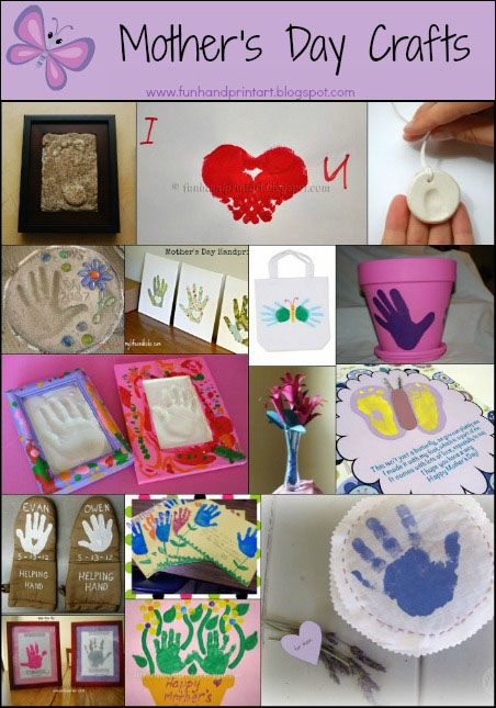 Mother 39 s day mothers day crafts and footprint art on for Craft ideas for mom
