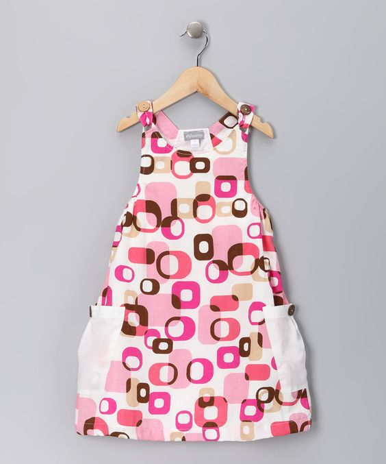 Pink Shape Corte Jumper - Toddler & Girls