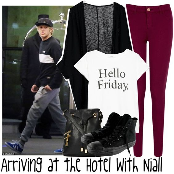 Arriving at the Hotel with Niall by albamonkey on Polyvore featuring American Apparel, MANGO, Oasis, Converse, Violet Ray and Payne