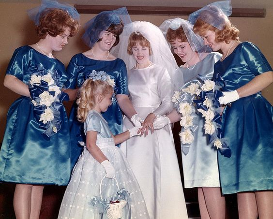 Wedding, 1964, Attendents, bridesmaids: