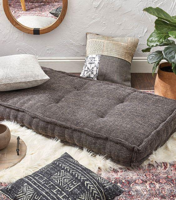 How To Make A Large Rectangle Floor Cushion Floor Cushions Living Room Large Floor Pillows Large Floor Cushions