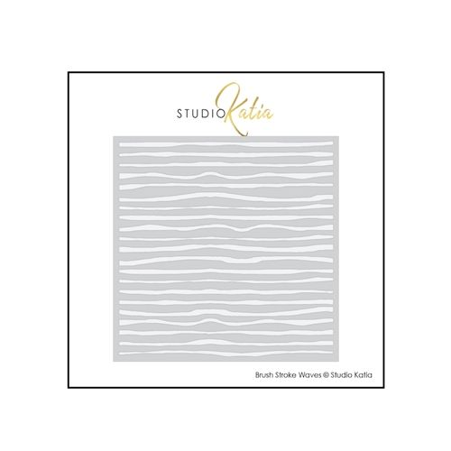 Studio Katia Brush Stroke Waves Stencil Sks002 Wave Stencil Brush Strokes Waves