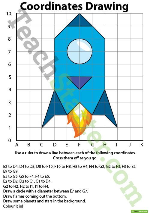 Coordinates Drawing – Rocket Teaching Resource