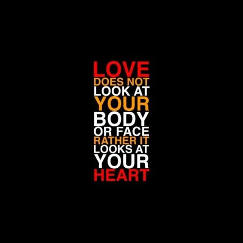 Love looks at your heart <3
