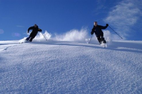 (Wendy) Fresh powder blue bird days with untracked snow!  Downhill skiing is one of my favorite winter activities.