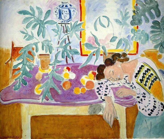 Naturaleza muerta con cama de Matisse