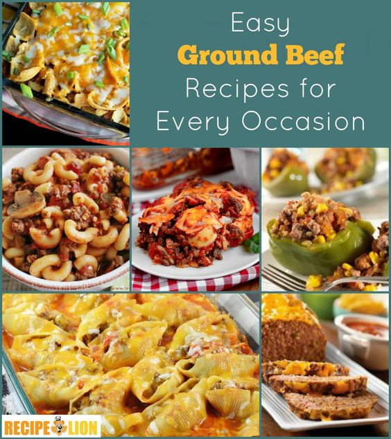 You won't want to miss these Easy Ground Beef Recipes. There's over 100 to choose from!
