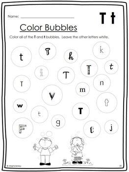 math worksheet : no prep letter of the week t free 12 letter t activities plus a  : Letter T Worksheets For Kindergarten