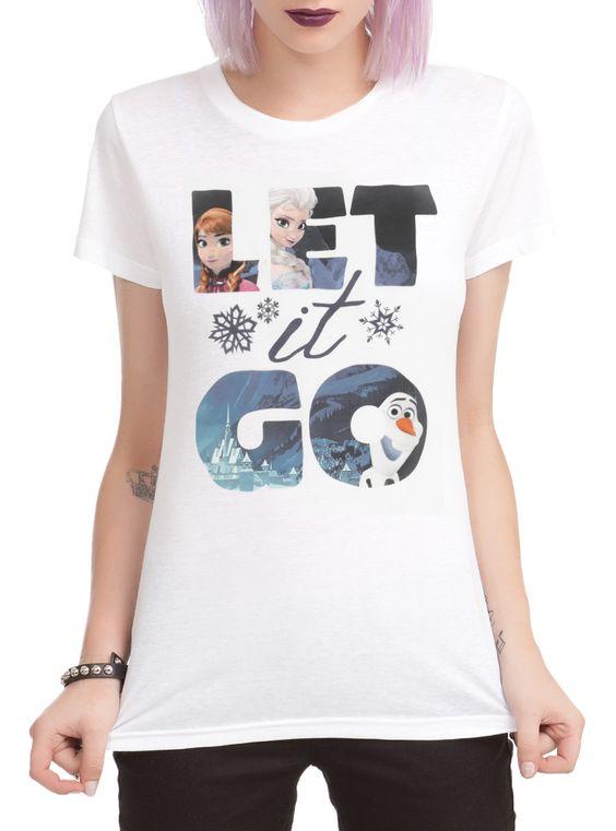 Disney Frozen Let It Go Fill Girls T-Shirt   Hot Topic