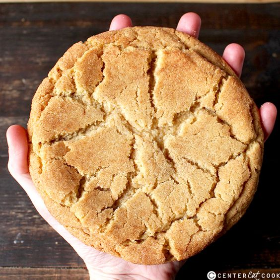 Jumbo Snickerdoodle Cookies- soft, buttery, thick, and delicious! So easy and perfect for gift giving!