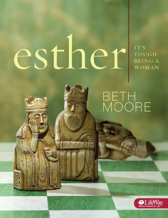 "Esther:It's Tough Being a Woman by Beth Moore explores God's providence and the hope He offers women facing challenges in our society. Esther includes 10 video sessions and nine weeks of personal study. Beth Moore explains how God placed a young Jewish woman who fulfilled her destiny ""for such a time as this"" and saved the Jews living in a pagan culture from certain destruction."