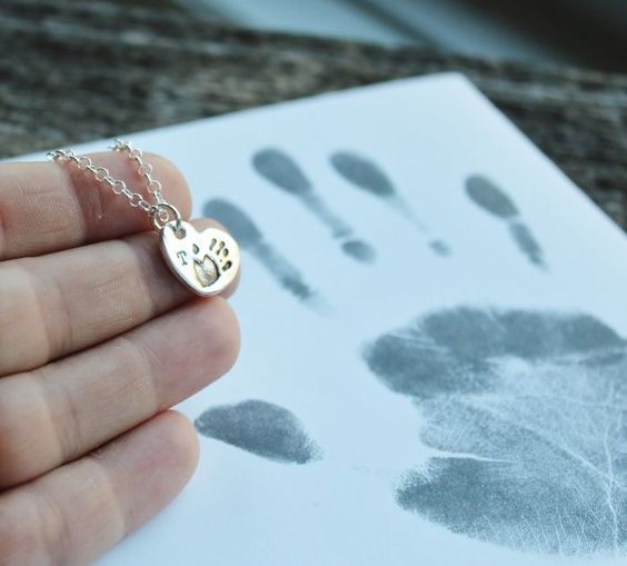 Custom Paw Print Necklace - Personalized Charm Necklace In Fine Silver | 2 Sisters Handcrafted