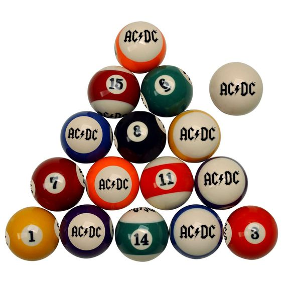 Rock N Roll Your Pool Table With A Cool AC DC Billiard Ball Set