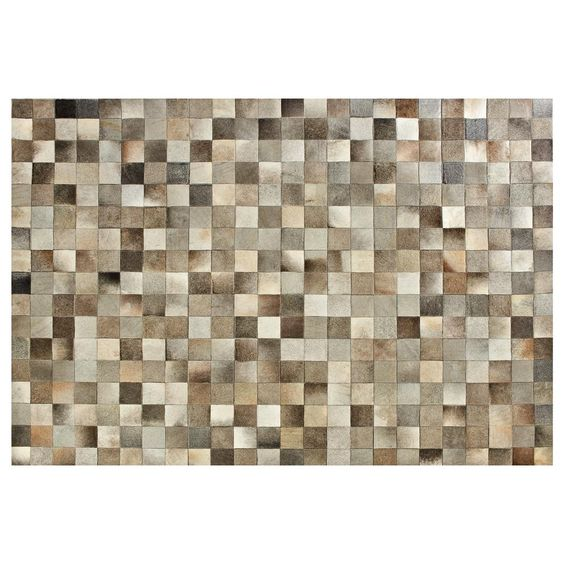 Atelier genuine cowhide leather patchwork rug leather - Tapis decoratif pour salon ...