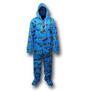 Wolverine Blue Footed Hooded Pajamas
