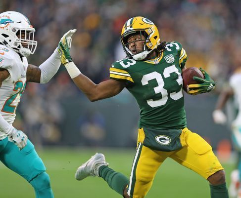 Don T Call It A Committee Aaron Jones Is Your Lead Back In Green Bay Green Bay Fantasy Football College Football Players