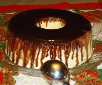 Receita de Gelado de creme com calda de chocolate - Show de Receitas