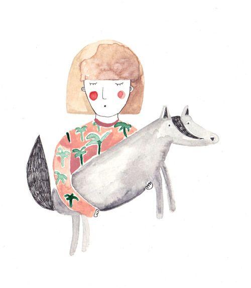 Das Mädchen und der Wolf